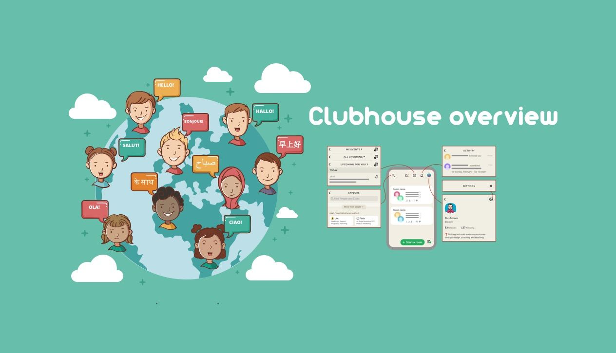 Clubhouse overview - a visual guide to the app