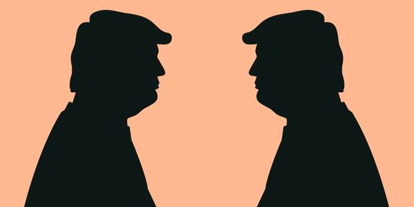 Trump debates Trump by Justin T Brown